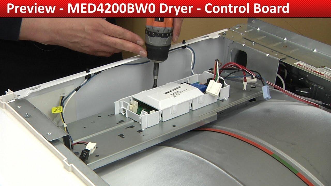 Control Board Repair Med4200bw0 Maytag Dryer Youtube New Bravos Electric Motor Bundadaffacom