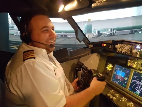 Captain Adam flies our Dubai and Brisbane adventures