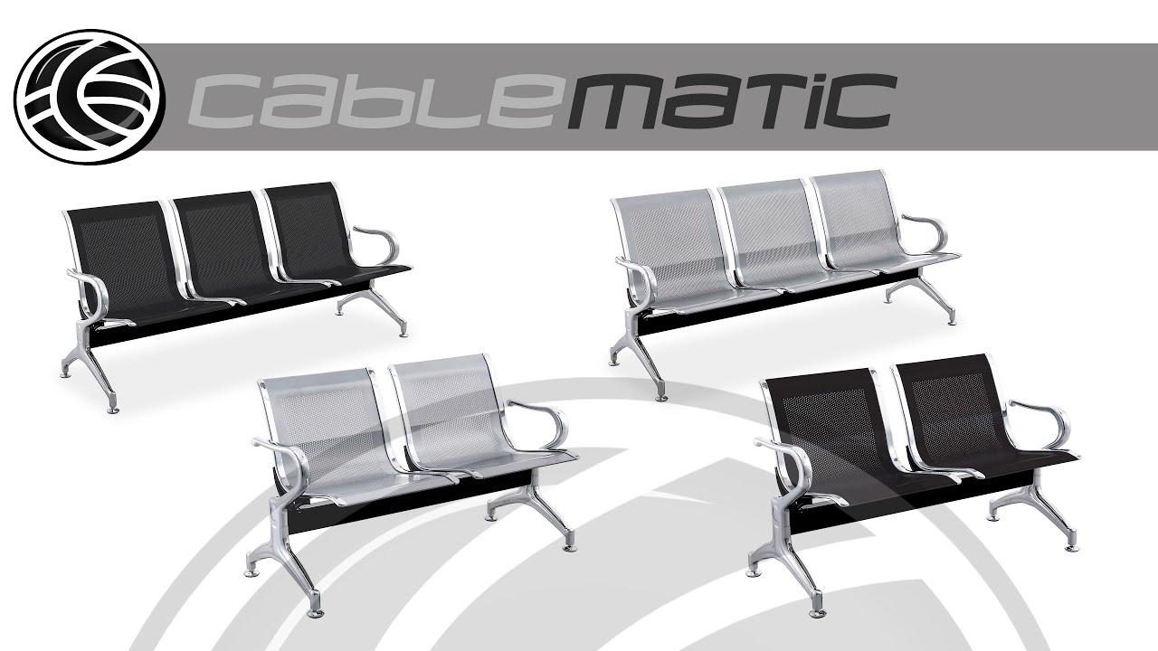 Bancada para sala de espera con sillas ergon micas for Precio de sillas ergonomicas