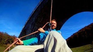 Illegal Rope Swing on Railway Bridge (Teliu)
