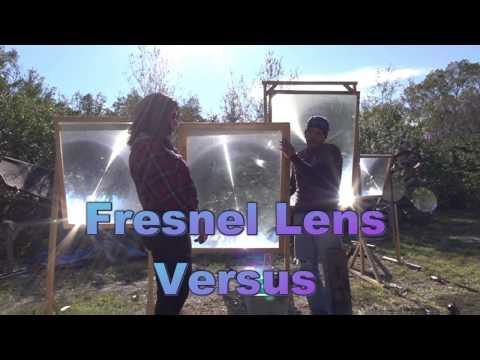 Fresnel Lens Versus Denise and Dan Rojas GreenPowerScience STREET SCIENCE