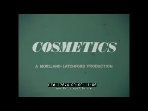 "1970s EDUCATIONAL FILM  "" COSMETICS ""  MAKE-UP APPLICATION & USE  LIPSTICK & EYELINER 17674"