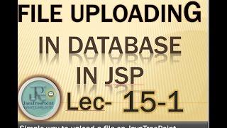 15-1-Image uploading in database and loading from database in jsp and servlet in java