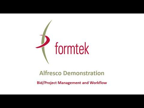 Alfresco Demonstration:  Bid/Project Management and Workflow