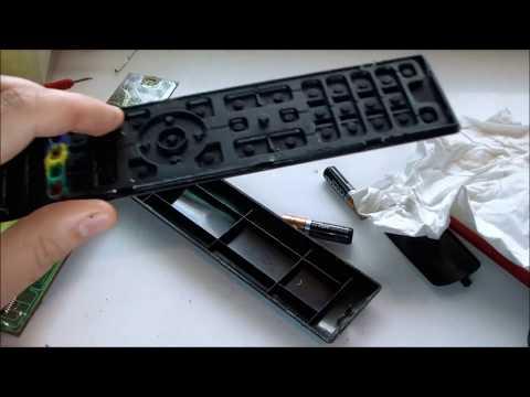 Pulizia contatti  telecomando tv Panasonic  Cleaning Panasonic remote control contacts