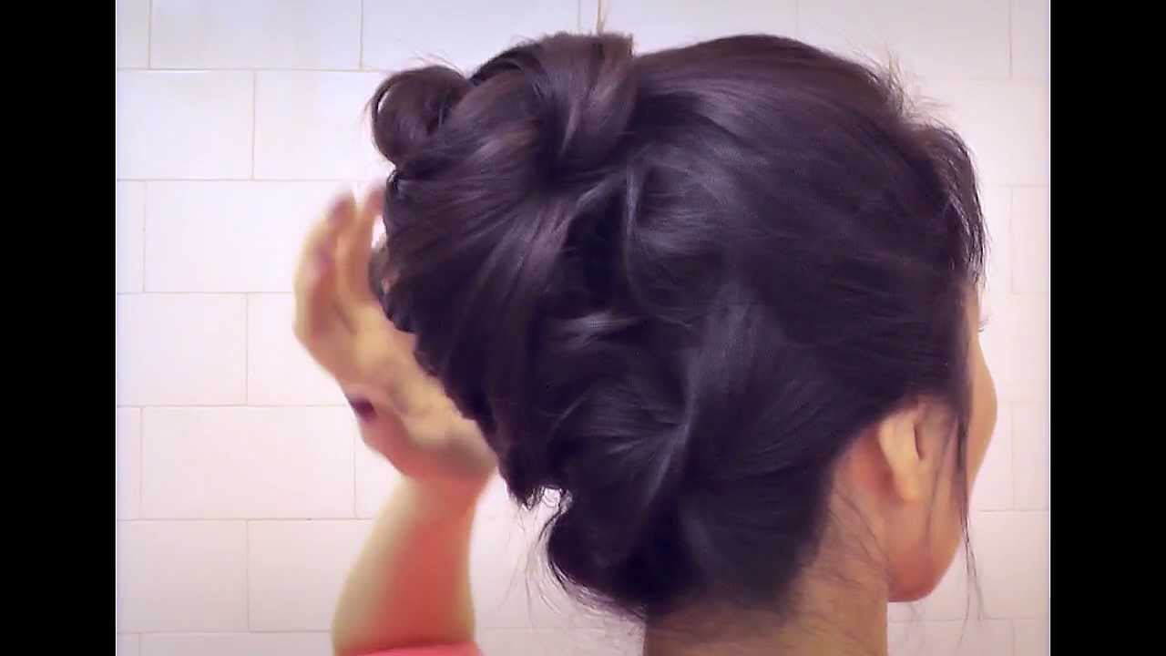 Hair tutorial cute hairstyles with bottom twist bun updo for hair tutorial cute hairstyles with bottom twist bun updo for medium long hair french twist style youtube solutioingenieria Image collections