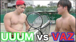 裸でテニス対決が白熱しすぎたww【ガチテニス特訓】