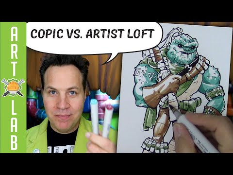 Artist Loft vs Copic Markers- Side by Side Comparison