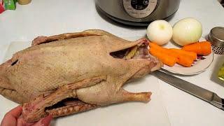 Простой рецепт гуся в мультиварке. A simple goose recipe in a multivariate