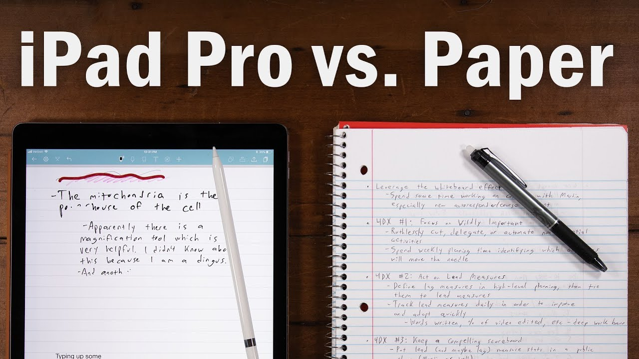 Best Note-Taking Device Ever? iPad Pro vs  Paper Notebooks