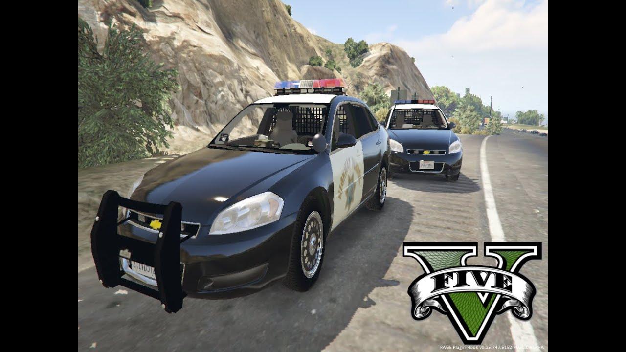 Gta 5 Police Chevrolet Impala - YouTube