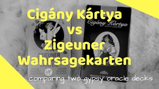 Comparing Zigeuner Wahrsagekarten and Cigány Kártya Fortune Telling Decks