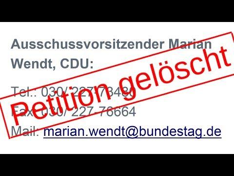 Eine Petition nach der anderen gelöscht. Petitionsausschuss des Bundestages Aufmerksamkeit schenken!