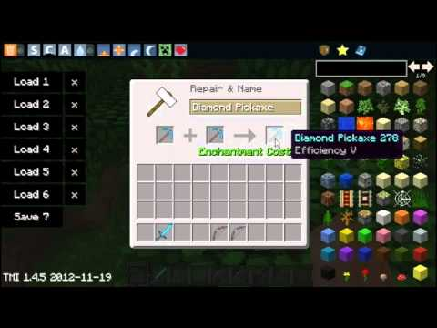 how to change enchantments in minecraft on a pickaxe
