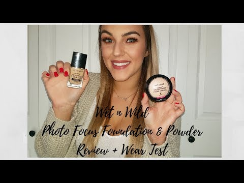 Wet N Wild Photo Focus Foundation and Powder Review + Wear Test