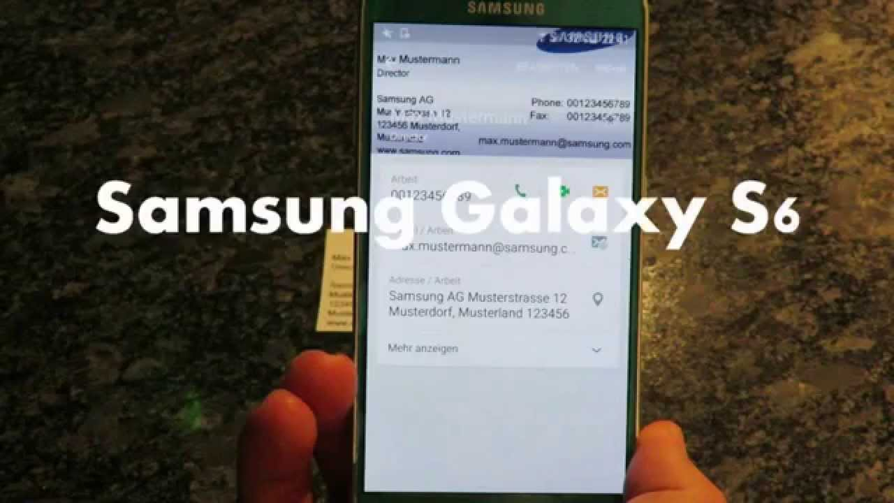 Samsung Galaxy S6 Business Card Scanner Visitenkarte Photo Snapbizcard App Tutorial