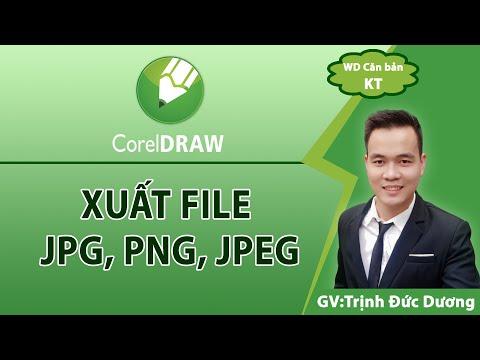 Xuất tệp hình ảnh trong Corel, Xuất tệp Jpg, Png, Jpeg chất lượng cao