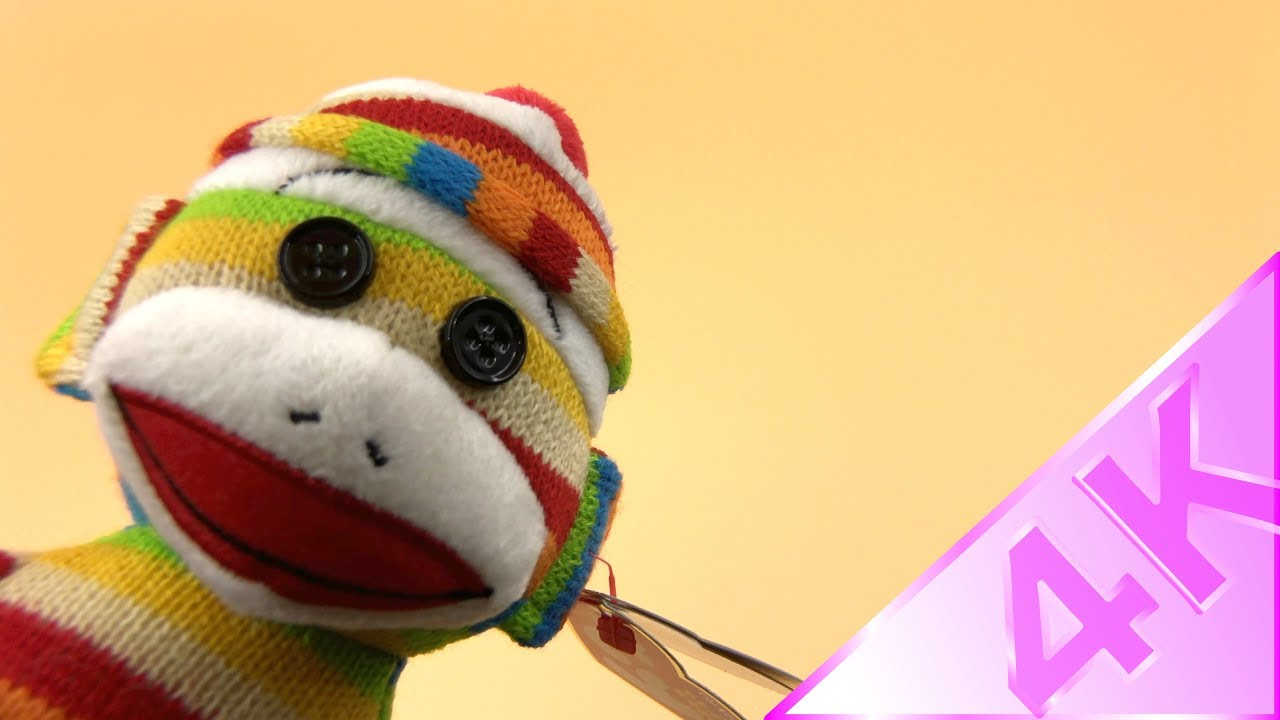 3cf2331c3dd Ty Beanie Babies - Sock the Sock Monkey 4k - YouTube
