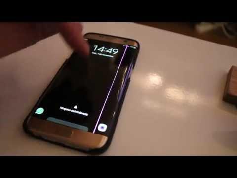 Fallo Samsung EDGE S7 línea rosa pantalla / s7 Edge Pink line screen failure