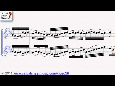Johann Pachelbel's, Canon in D, two violins (duet) sheet music - Video Score