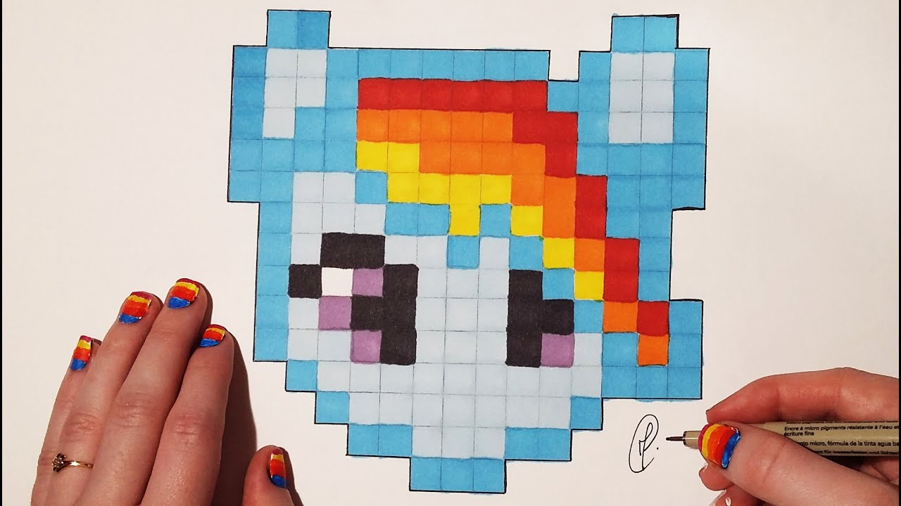 Pixel Art : How to draw My Little Pony (Easy) - YouTube