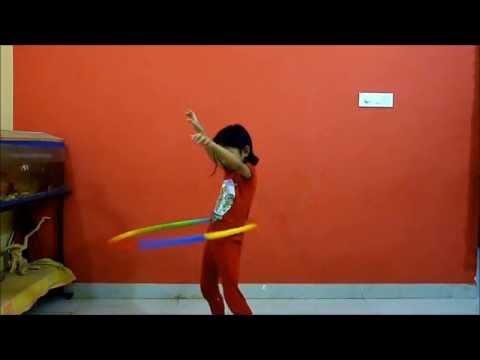 How to rotate hula hoop around your waist and knees
