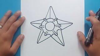 Como dibujar a Staryu paso a paso - Pokemon | How to draw Staryu - Pokemon