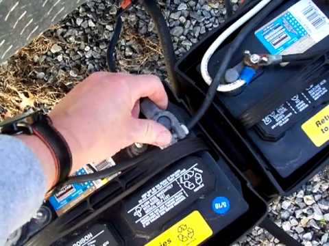 hook up two batteries on a travel trailer - YouTube