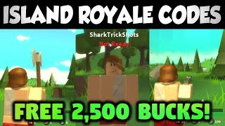 Roblox Fortnite Island Royale Code! Get 2500 Bucks!