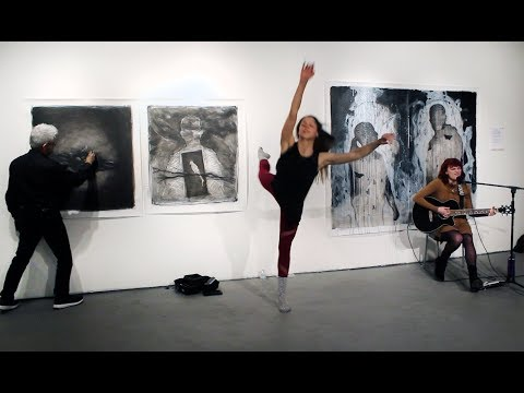 Live Creations. Live drawing, dance and music collaboration 2018