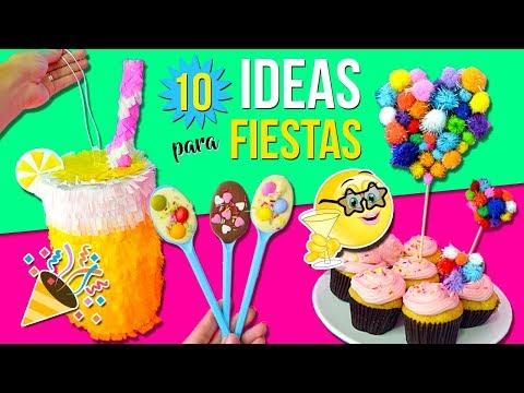10 IDEAS para FIESTAS INFANTILES * Decoraciones FÁCILES, Rápidas y Económicas (RECOPILACIÓN)