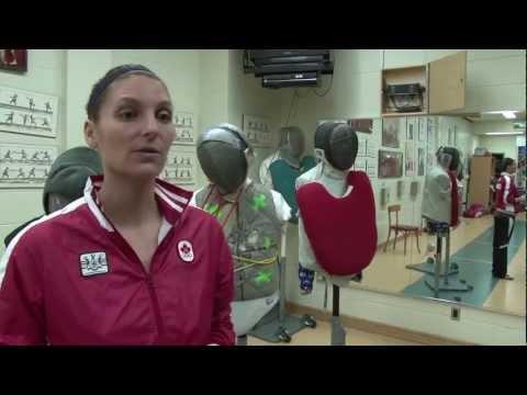 Sandra Sassine, qualifiée en escrime aux Jeux olympiques 2012