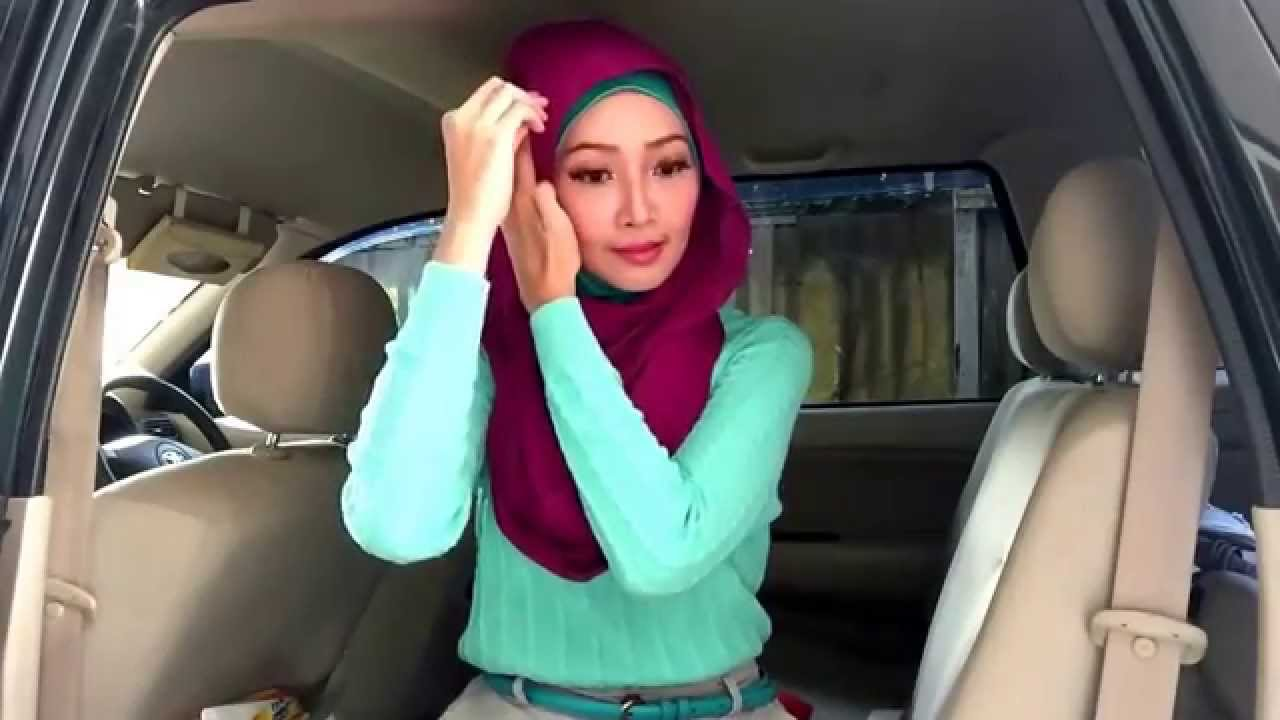 Easy Hijab Tutorial 39 Bahan Segipanjang Pin 2 YouTube