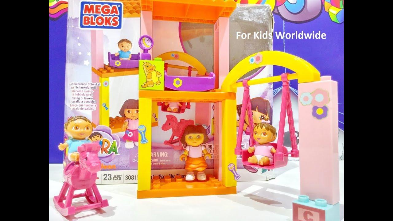All Dora Toys : Mega bloks dora s family nursery rocking horse building