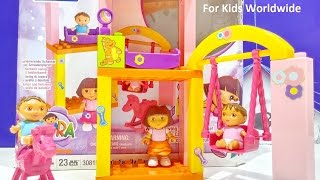 Mega Bloks Dora's Family Nursery - Rocking Horse Building Blocks ❤ Nickelodeon Toys ❤