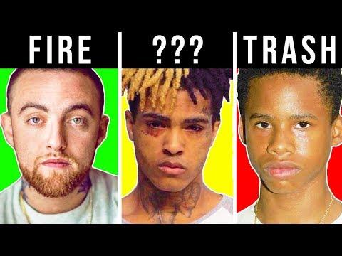 RANKING RAPPERS TRASH TO FIRE 3 XXXTentacion Mac Miller Tay-k