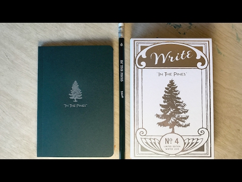 "Write Notepads & Co.: ""IN THE PINES"" Winter 2016 Limited Edition Pocket Notebook Review"