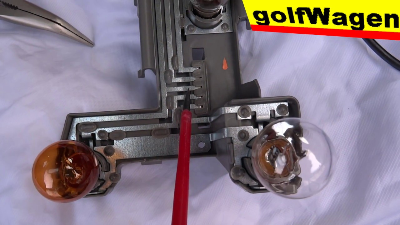How To Fix Bad Connector For Rear Lights Ground Vw Golf 4 5 Variant You