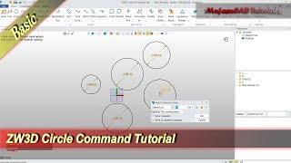 ZW3D Circle Command Tutorial