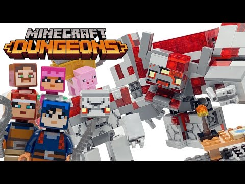 LEGO Minecraft Dungeons The Redstone Battle Review! 2020 Set 21163!