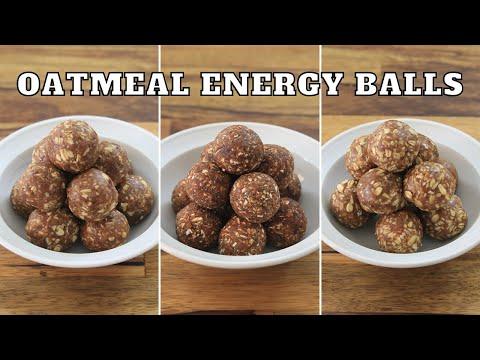 No-Bake Oatmeal Energy Balls 3 Easy Recipes
