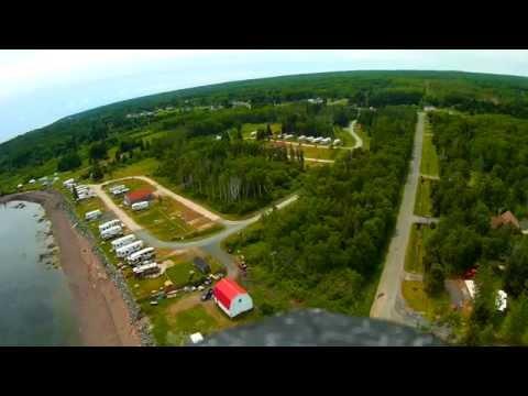 Aerial view,cedar cove camping Pointe-Verte, New-Brunswick,Canada
