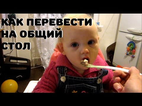 Как перевести ребенка на общий стол