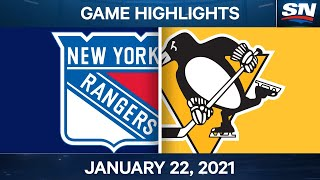 NHL Game Highlights | Rangers vs. Penguins - Jan. 22, 2021
