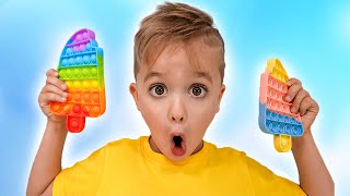 نيكي تلعب وتصنع الشوكولاتة - فيديو مضحك للأطفال