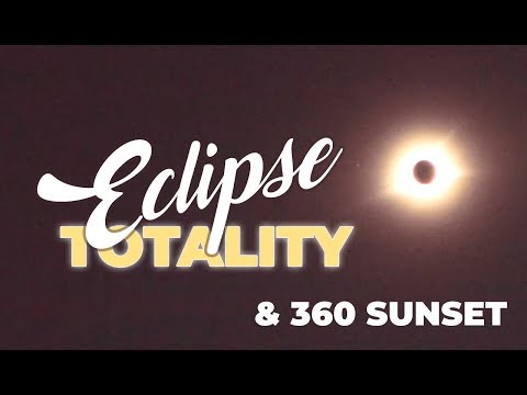 360 Sunset:  Totality Solar Eclipse 2017