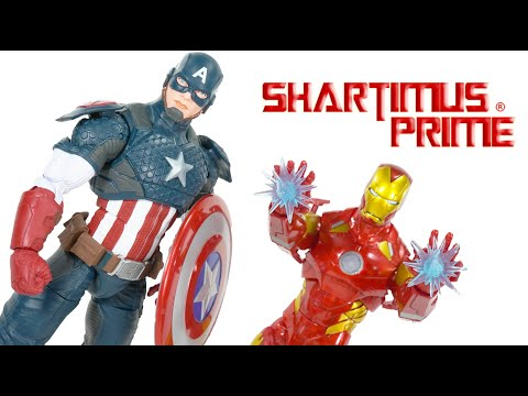 Marvel Legends Series 12 Inch Captain America & Iron Man Hasbro Action Figure Review