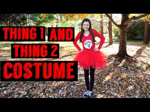 Halloween Costume Thing 1 And Thing 2