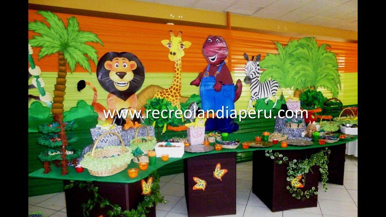 decoraci n safari con recreolandia youtube
