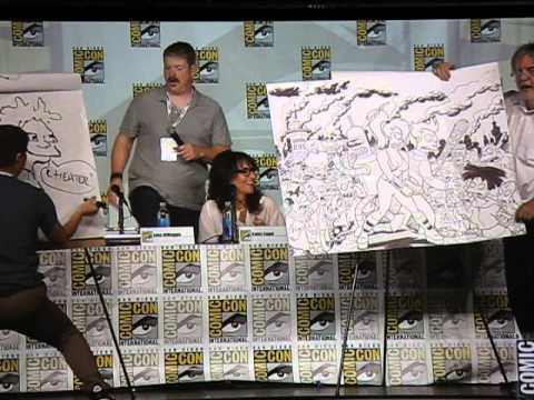 MATT GROENING vs EDMUND FONG DRAW OFF at Comic Con 2013